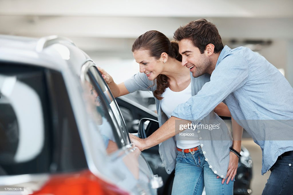 We should organise a test drive... : Stock Photo