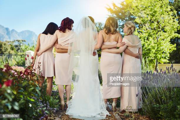 we stick together through the good times and the bad times - bridesmaid stock pictures, royalty-free photos & images