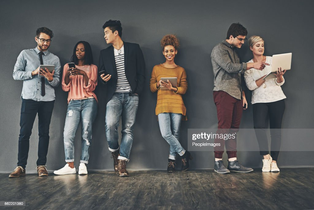 We take every opportunity to social network : Stock Photo