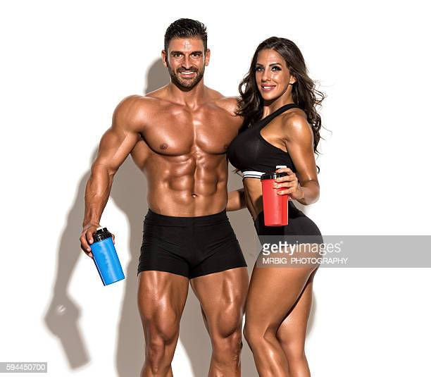 we take our supplements, do you? - homens musculosos imagens e fotografias de stock