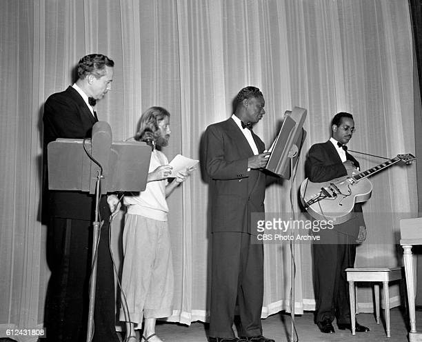 We The People the CBS Radio program broadcast on television from CBS Television Studio 44 at 109 West 39th Street New York NY From left to right...