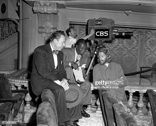 We The People the CBS Radio program broadcast on television from CBS Television Studio 44 at 109 West 39th Street New York NY Left to right Fred...