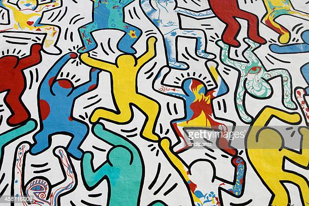 we the youth by keith haring - mural stock pictures, royalty-free photos & images