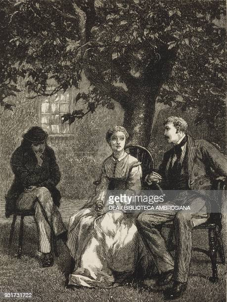 We took our chairs out into the garden and sat under the old mulberry tree Leonard Celia and the Captain from the novel By Celia's Arbour chapter...