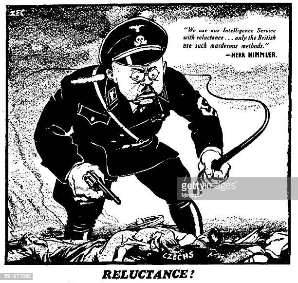 We use our Intelligence Service with reluctance only the British use such murderous methods Herr Himmler The cartoon accompanied the following...
