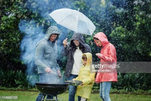we will have this cookout come rain or shine - rain stock pictures, royalty-free photos & images