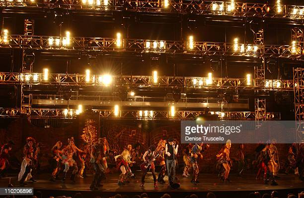 """""""We Will Rock You"""" cast during """"We Will Rock You"""" North American Premiere at Paris Las Vegas in Las Vegas, Nevada."""