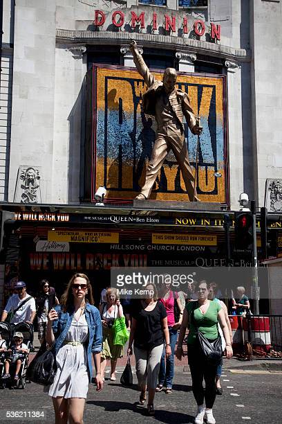 We Will Rock You. The ever popular musical at the Dominion Theater on Tottenham Court Road, Central London. Essentially the musical based on the rock...