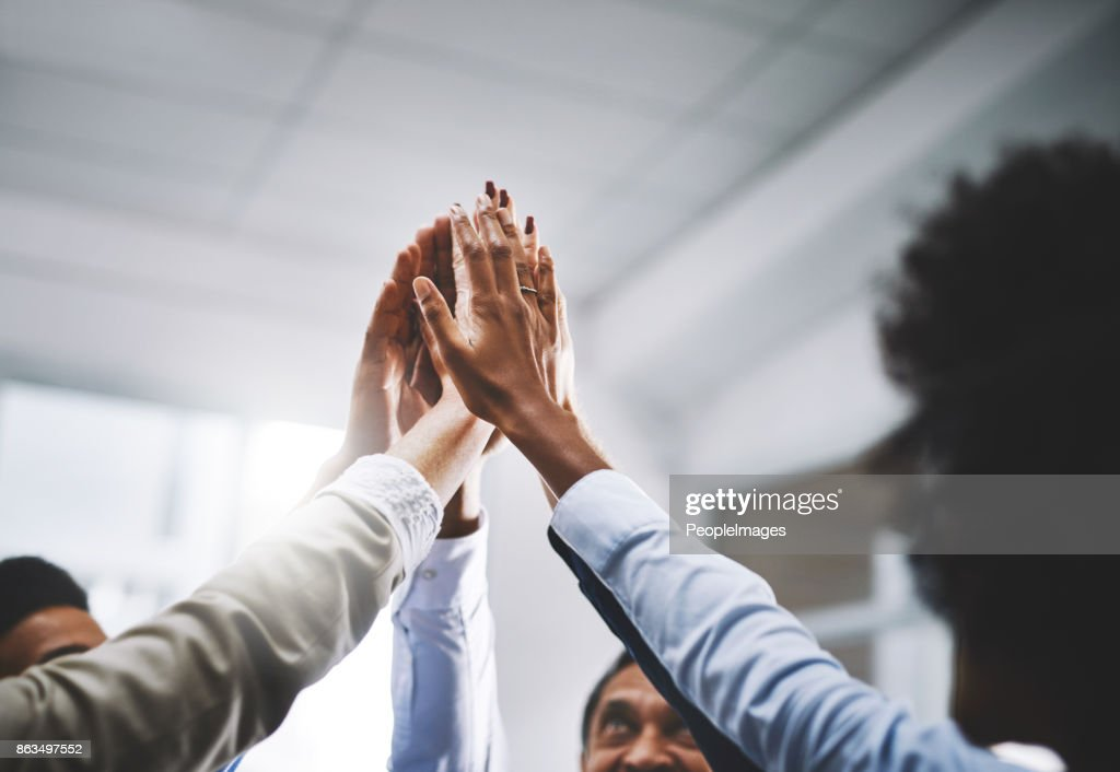 We work well together : Stock Photo