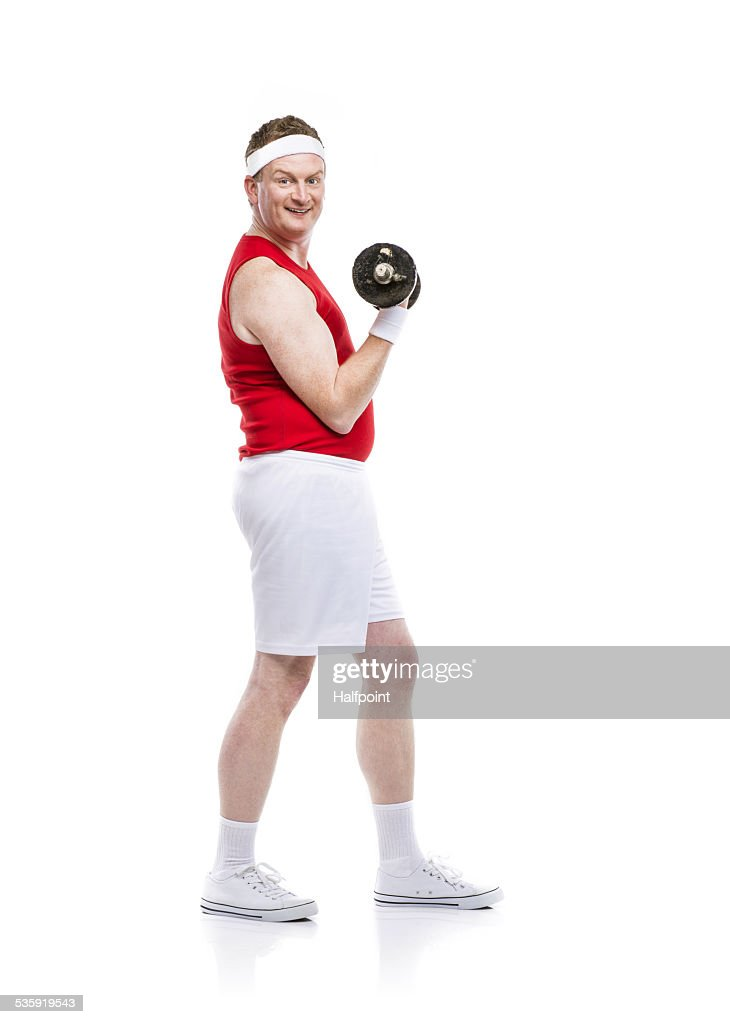 Weak body builder : Stock Photo