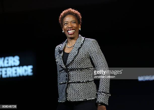 Wealth management Vice Chairman and Morgan Stanley managing director and client service advisor Carla Harris speaks on stage at the 2016 MAKERS...