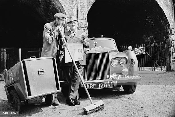 Wealthy industrialist Fred Cooper and roadsweeper George Willock,the joint shareholders of an investment syndicate, 11th May 1967.