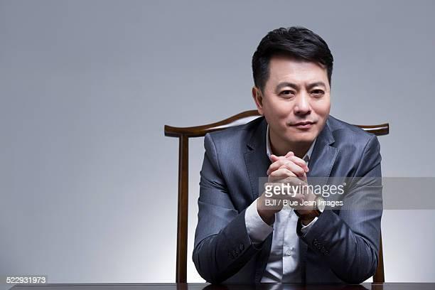 Wealthy mature businessman