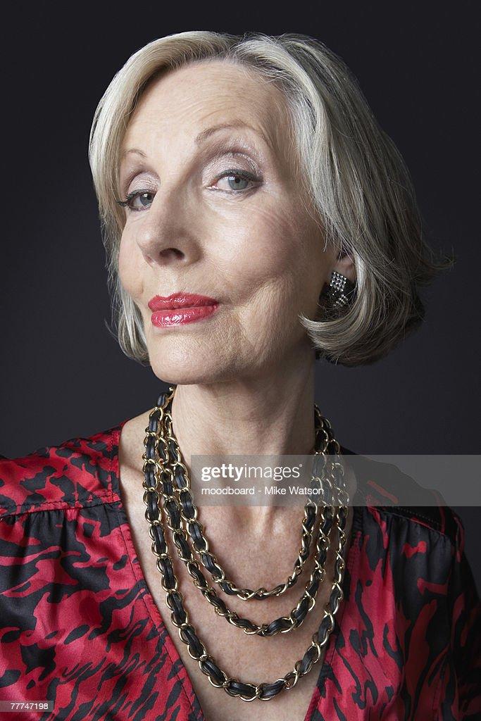 Wealthy Senior Woman : Stock Photo