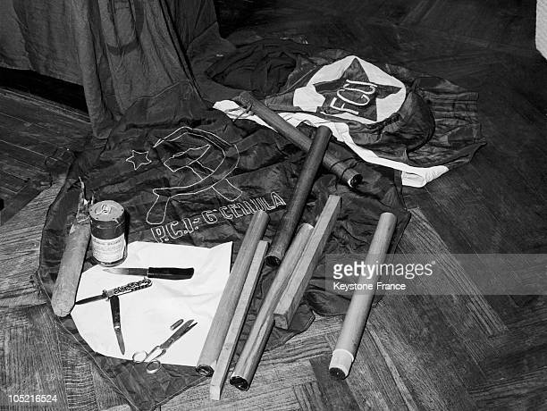 Weapons Confiscated By The Roman Police During A Communist Demonstration Which Was Particularly Violent In The 1970S Truncheons Daggers Scissors And...