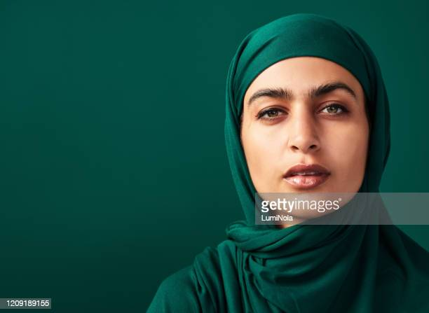 i wear the hijab by choice - scarf stock pictures, royalty-free photos & images