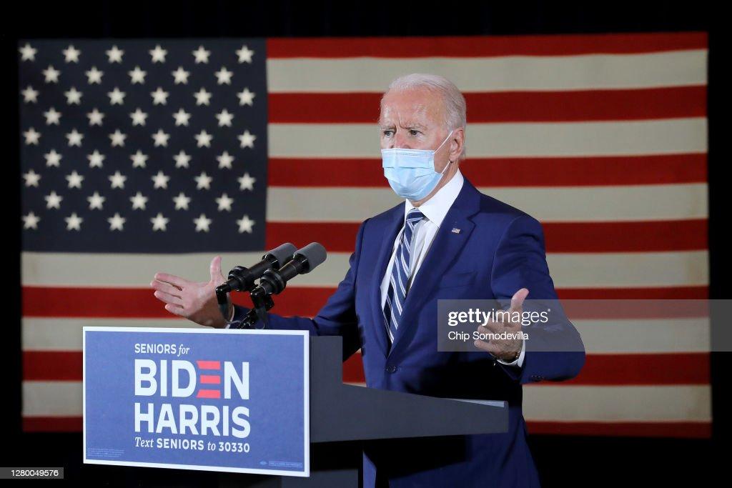 Democratic Presidential Nominee Joe Biden Campaigns In Florida : News Photo