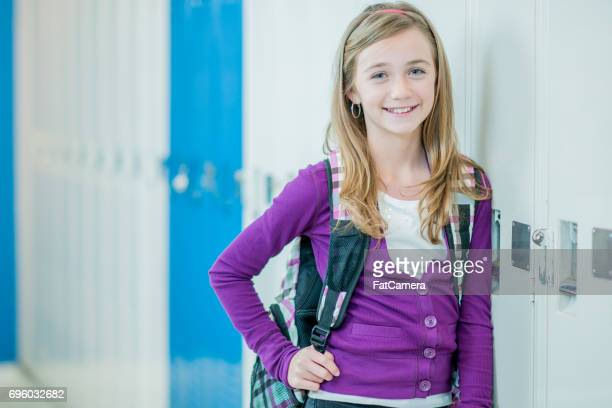 Wearing her Backpack