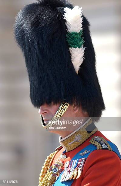 Wearing His Guards Regiment Uniform As Colonel Of The Welsh Guards, Prince Charles Suffered On A Hot Day While Wearing The Traditional Bearskin Fur...