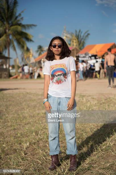 Wearing shirt by Ralph Lauren and jeans by Calvin Klein at Wonderfruit 2018 on December 16, 2018 in Pattaya, Thailand.