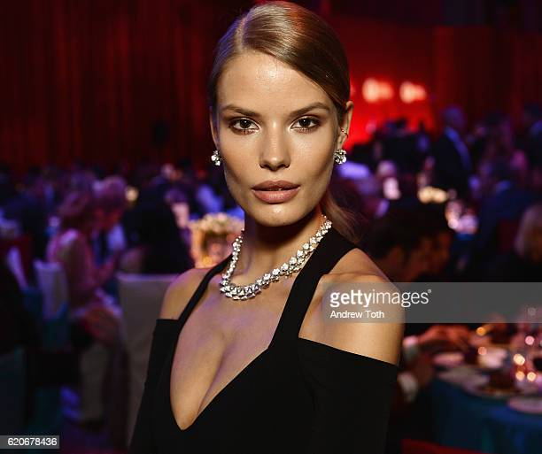 wears Bulgari to the Elton John AIDS Foundation's 15th Annual An Enduring Vison Benefit At Cipriani Wall Street at Cipriani Wall Street on November 2...
