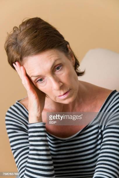 Weary elderly person