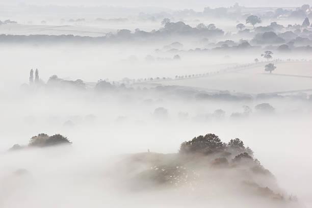 Wearyall Hill from Glastonbury Tor, Somerset, UK