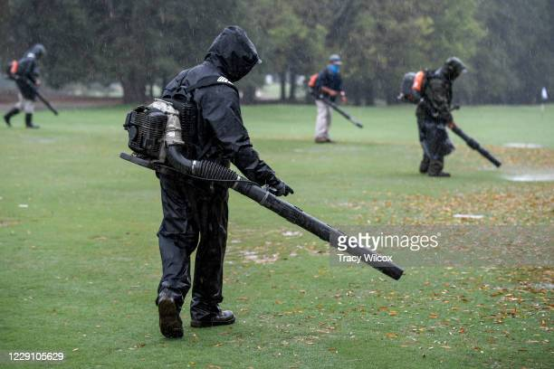 Weather caused delays and finally a suspension of play during the first round of the PGA TOUR Champions Dominion Energy Charity Classic at The...