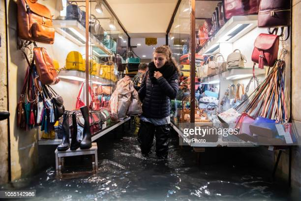 Weather emergency In Venice italy on 29 October 2018 due to the High water almost all the city have been underwater with a maximum level reached of...