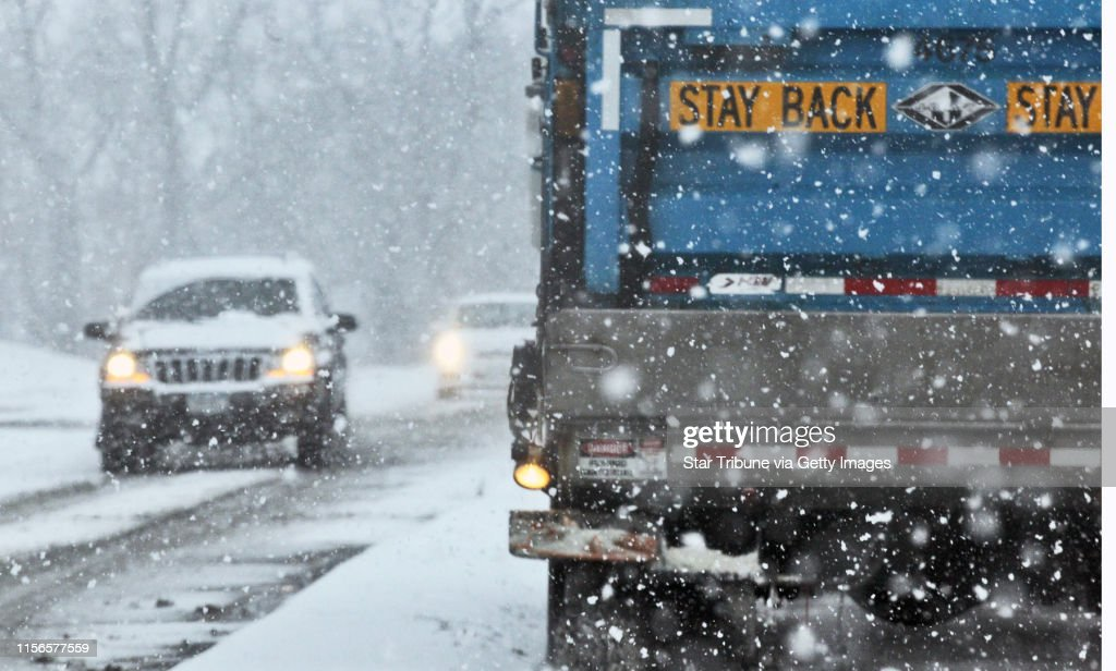Weather Features - Slowed traffic and overturned vehicle at