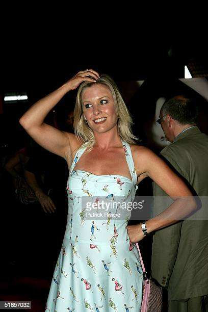 Weather girl Sami Lukis attends a private party organised to introduce the new Virgin Atlantic airline venture between London and Sydney at Wharf 3...