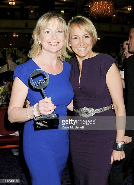 TV Weather Presenter award winner Carol Kirkwood and Louise Minchin attend the TRIC Television and Radio Industries Club Awards at The Grosvenor...