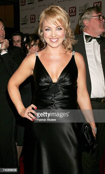 Weather presenter Monique Wright arrives at the 2007 TV Week Logie Awards at the Crown Casino on May 6, 2007 in Melbourne, Australia. The annual...