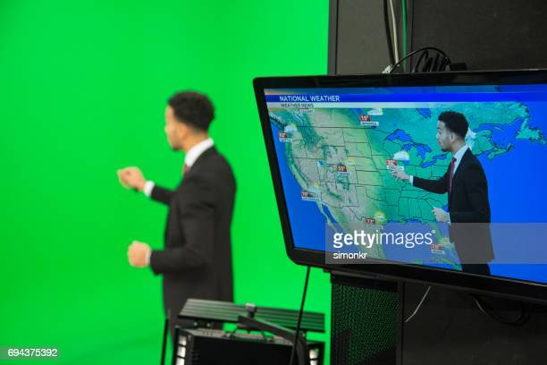 weather presenter - weather stock pictures, royalty-free photos & images