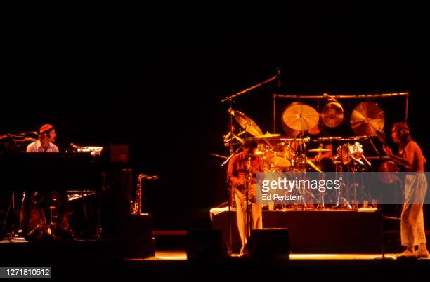Weather Report performs during the Berkeley Jazz Festival at the Greek Theatre in Berkeley, California on May 26, 1979.