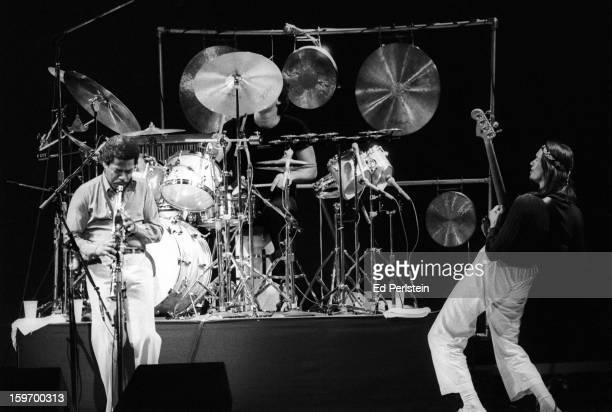Weather Report performs during the Berkeley Jazz Festival at the Greek Theatre in May 1979 in Berkeley California
