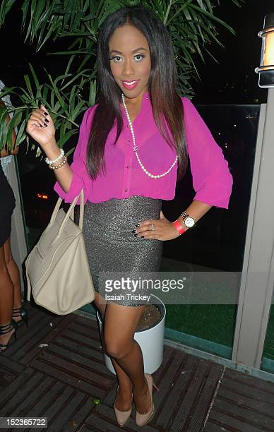 Weather Specialist / Reporter Patricia Jaggernauth attends ET Canada's Seventh Birthday Party at Spoke Club on September 11 2012 in Toronto Canada
