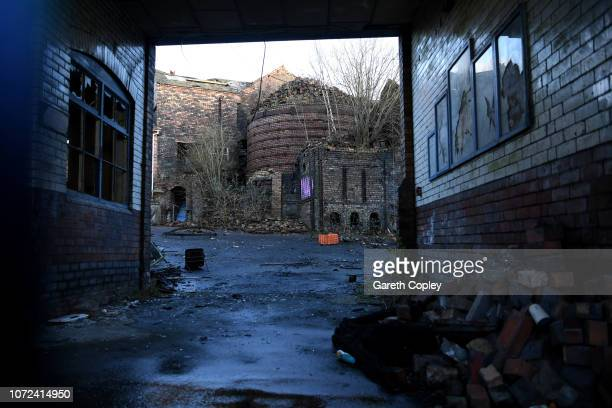 Weatherby Falcon Pottery Hanley on January 29 2018 in Stoke on Trent England The hovel of the kiln collapsed in February 2012 At the height of the...