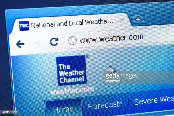 Weather.com web page on the browser