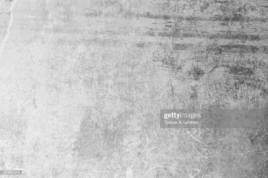 Weathered, aged and scratched concrete wall texture background. : Stock Photo
