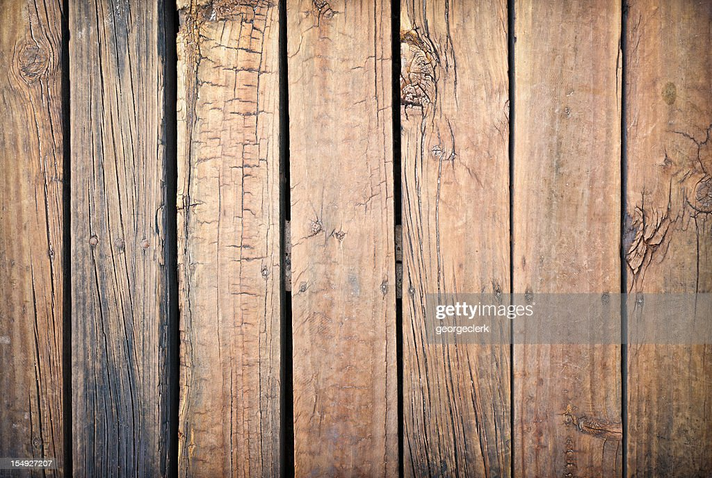 Weathered and Rough Old Wooden Planks : Stock Photo