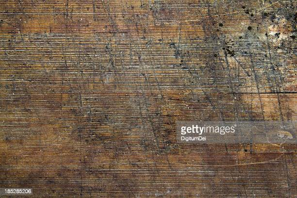 Weathered and scratched wood