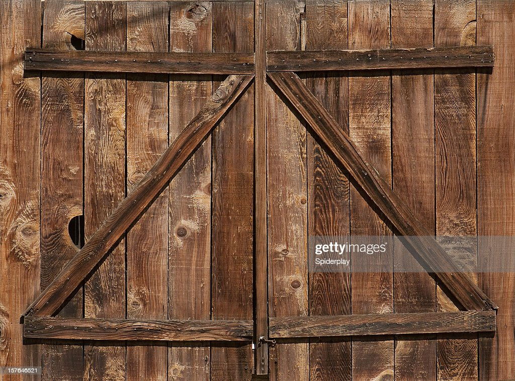 Weathered Barn Door : Stock Photo
