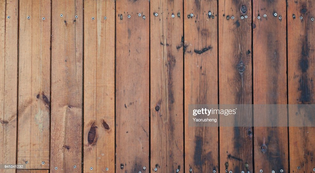Weathered Barn Wood Background With Knots And Nail Holes : Stock Photo