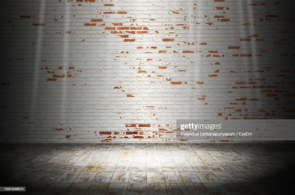 Weathered Brick Wall At Home : Stock Photo
