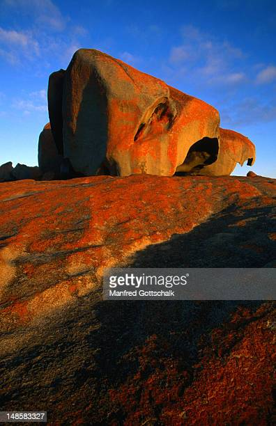 Weathered granite boulders on a rock dome at the aptly named Remarkable Rocks.