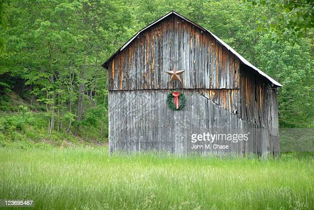 Weathered Holiday Barn