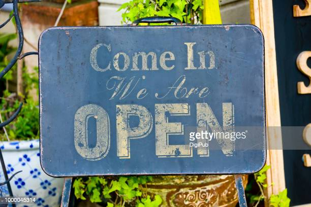 Weathered Open Sign