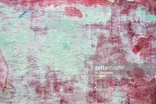 weathered painted wall texture - mint green stock pictures, royalty-free photos & images
