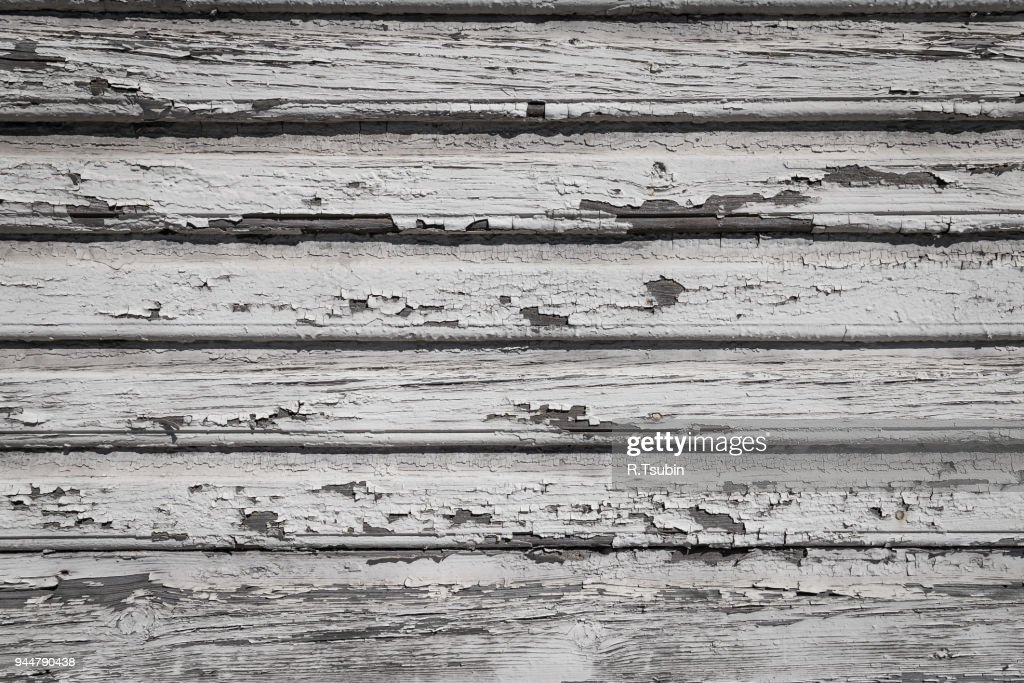 weathered painted wooden plank : Stock Photo